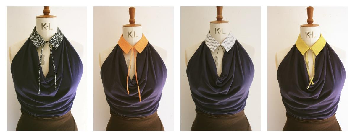 4 shirt collars